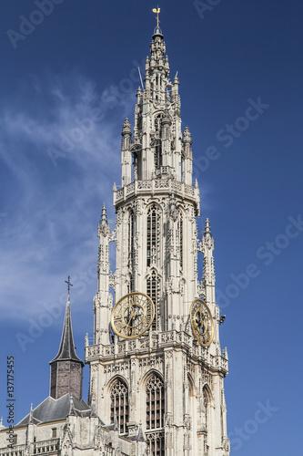 Keuken foto achterwand Antwerpen Antwerp Cathedral Spire