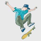 Skateboard athlete