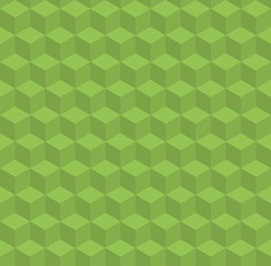 Greenery vector pattern with volume cubes