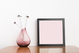 Black frame. Modern home decor mock up.