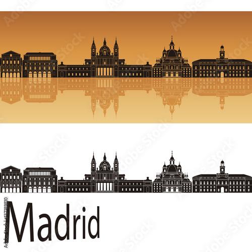 Madrid V2 skyline in orange