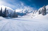 Ski slope in Andalo/Paganella (Trentino)
