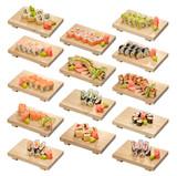 sushi and sushi roll set