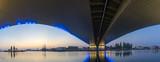 concrete bridge on the Odra River in Szczecin