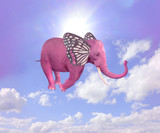Elephant butterfly flying in the sky. Illustration - 137223618