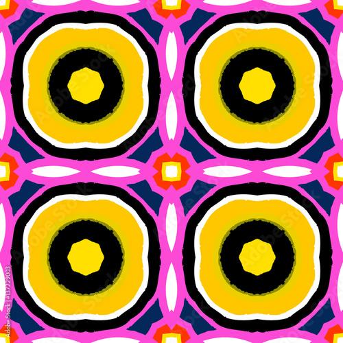 Suzani, vector multicolor ethnic pattern - 137229003