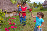 People visit in Navala village in Viti leavu island Fiji - 137231424
