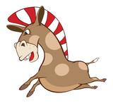 Illustration of a Cute Pony. Cartoon Character