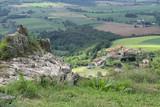 Blick von der Burgruine Usson in die Auvergne