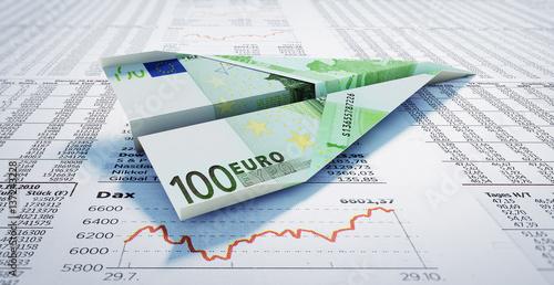 Poster 100 Euroschein auf Börsenzeitung