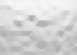 Fototapety White polygonal triangle geometric texture. 3D rendering background.