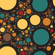 Постер, плакат: Color dots abstract background Vector illustration Rounds decoration backdrop