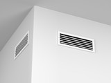 Air vents on the wall - 137252437