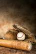 Antique baseball gear