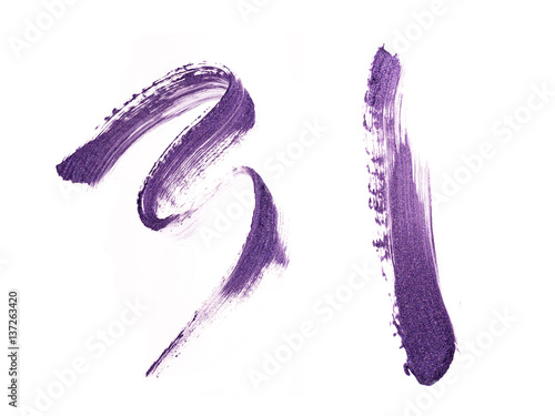 Plakát purple stroke of lipstick