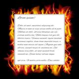 Burning fire frame. Vector illustration