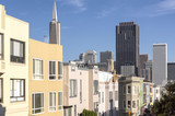 San Francisco skyline and Chinatown neighborhood.