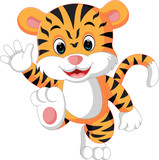 cute tiger cartoon - 137282239