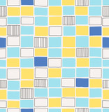 seamless hand drawn pattern with squares
