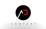 AD Logo.  Letter Design Vector.
