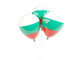 Three balloons with flag of bulgaria