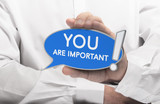 You are Important Quote, Self-Confidence Concept
