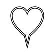 chat bubble heart icon stock image, vector illustration design