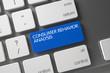 Consumer Behavior Analysis CloseUp of Keyboard. 3D.