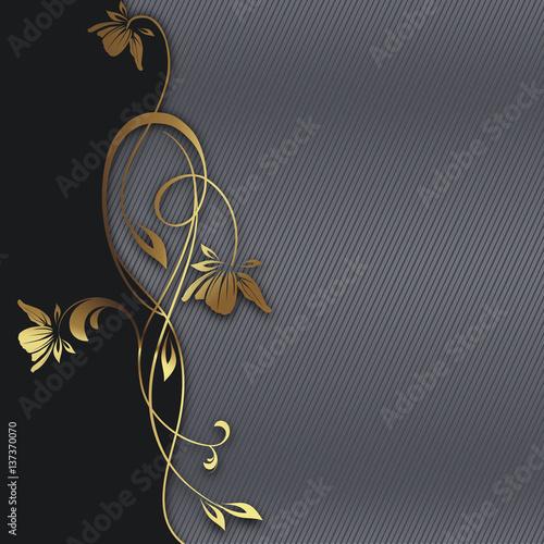 Decorative background with floral border.