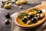 varietà di olive in primo piano