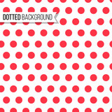 Polka dot seamless pattern. Vector illustration. Texture design for background
