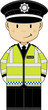 Cute Cartoon British Policeman  - 137379045