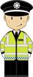Cute Cartoon British Policeman  - 137379045