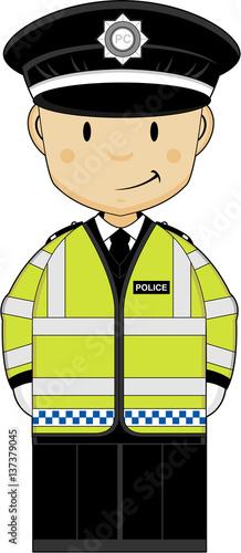 Cute Cartoon British Policeman