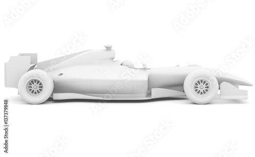 Fotobehang F1 Formula race car. Side view