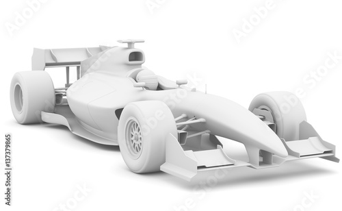 In de dag F1 Formula race car