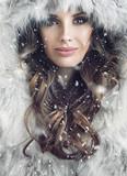 Portrait of an attractive brunette woman - 137381063