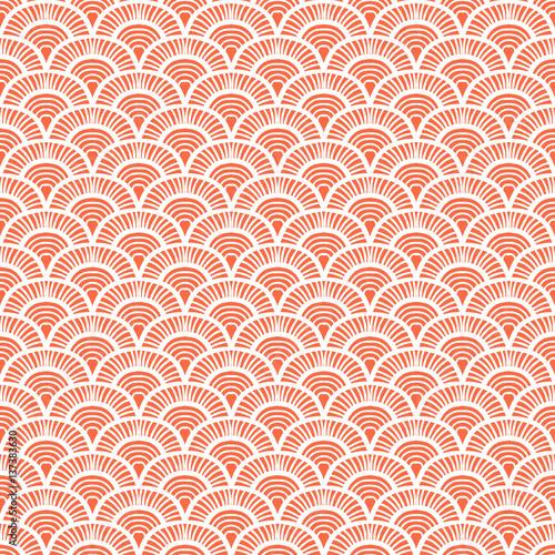Naklejka Vintage hand drawn art deco pattern