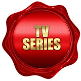 tv series, 3D rendering, red wax stamp with text