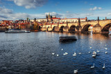 Image of Charles Bridge in Prague with couple