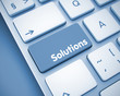 Solutions - Message on  Keyboard Key. 3D.