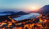 Ship pier at sunset. Beauty world. Turkey