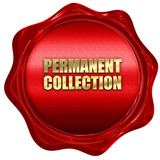 permanent collection, 3D rendering, red wax stamp with text