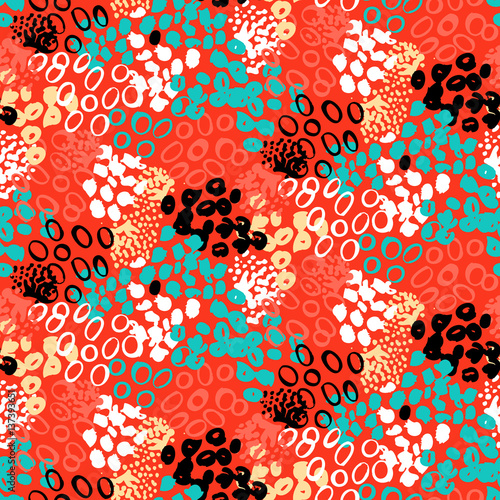 Cotton fabric Hand painted vector pattern with splatters