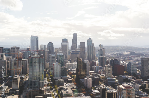 View of Seattle from the Space Needle in downtown Seattle Poster
