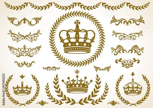王冠�月桂樹�飾りセット