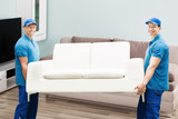 Two Male Workers Carrying Sofa - 137405278