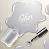 Blots of Nail Polish Isolated On Background : Vector Illustration