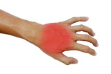 Inflame muscle on the back hand