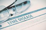 Diagnosis - Lyme Disease. Medicine Concept. 3D Illustration.